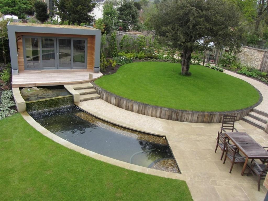 Оформление сада в стиле модерн на дачном участке