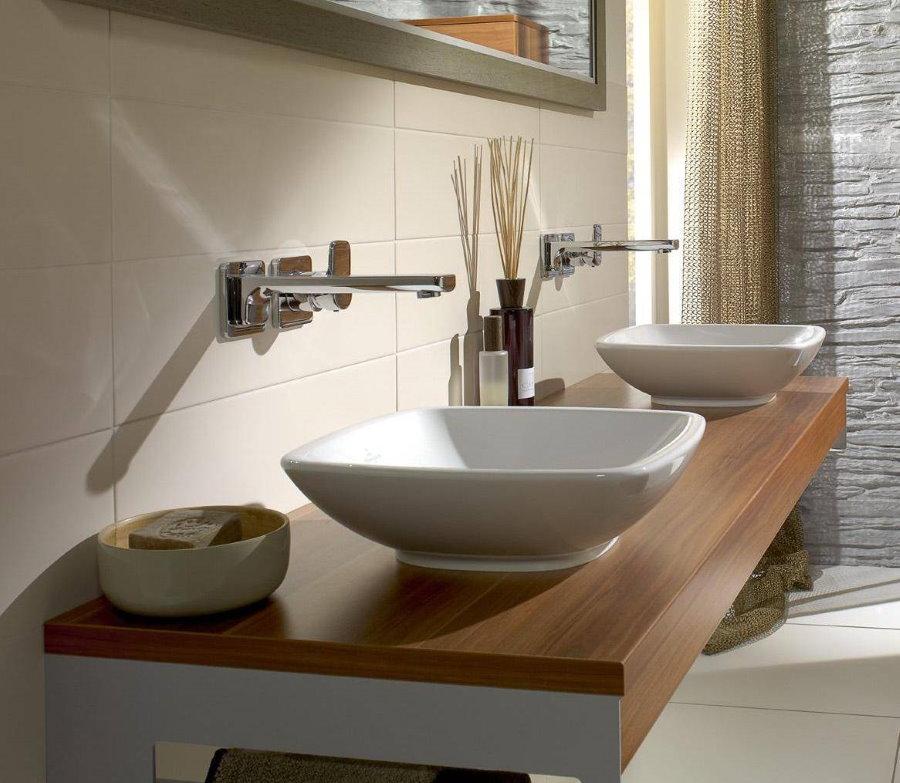 Выбор накладной раковины для просторной ванной комнаты