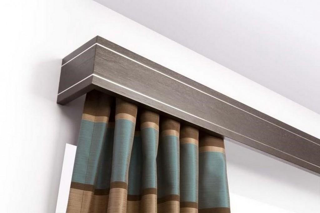 Лаконичная модель настенного багета для штор