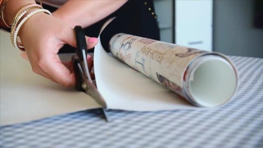Бумажные шторы из рулона ненужных обоев