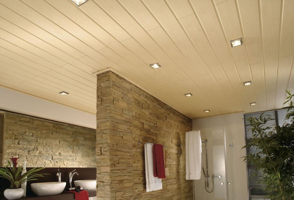 Встроенные светильники на пластиковом потолке