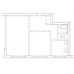 Схема двухкомнатной квартиры в панельном доме