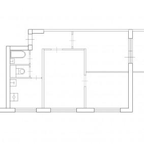 Типовая планировка 3 комнатной квартиры в доме П-49 Д