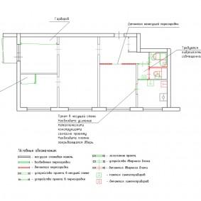 Схема перепланировки 4 комнатной квартиры в панельке