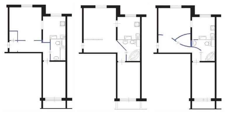 План двушки в доме п 46 после перепланировки
