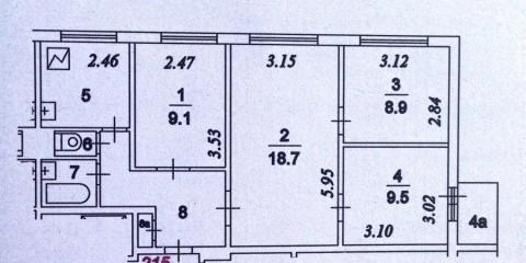 План квартиры в доме серии П-49 Д