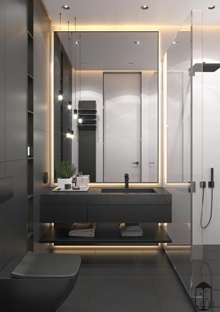 Использование декоративной подсветки при оформлении ванной