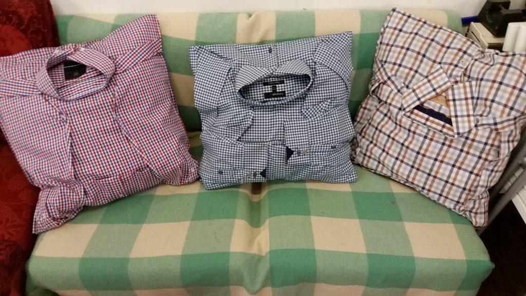 Подушки из рубашек для декорирования квартиры