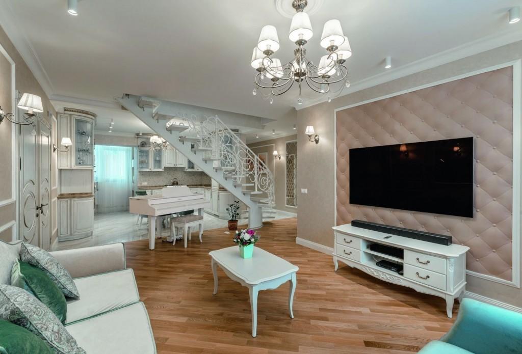Прованс в интерьере двухэтажной квартиры