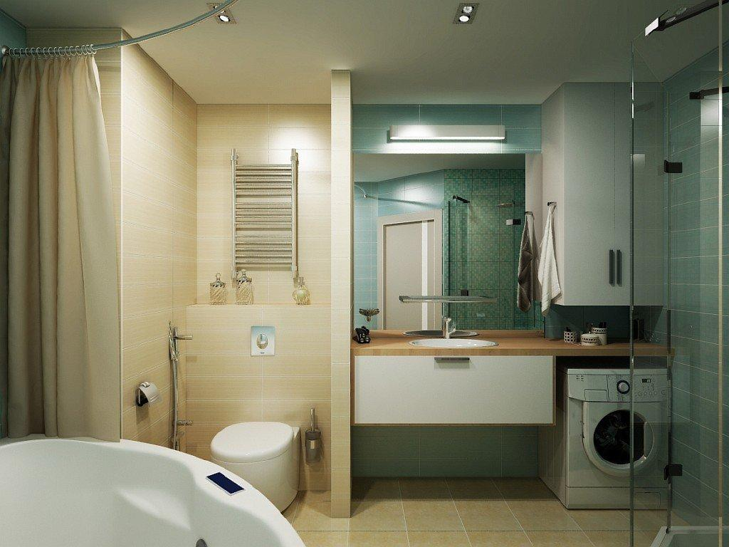 Планировка большой ванной в современном стиле