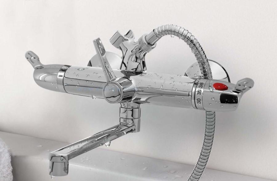 Термостатный смеситель с ручной регулировкой температуры