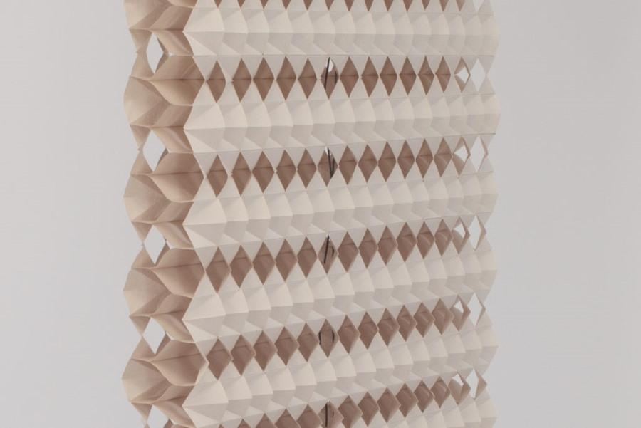 Сложные шторы из плотной бумаги