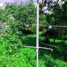 Разметка участка для установки забора на винтовых столбах