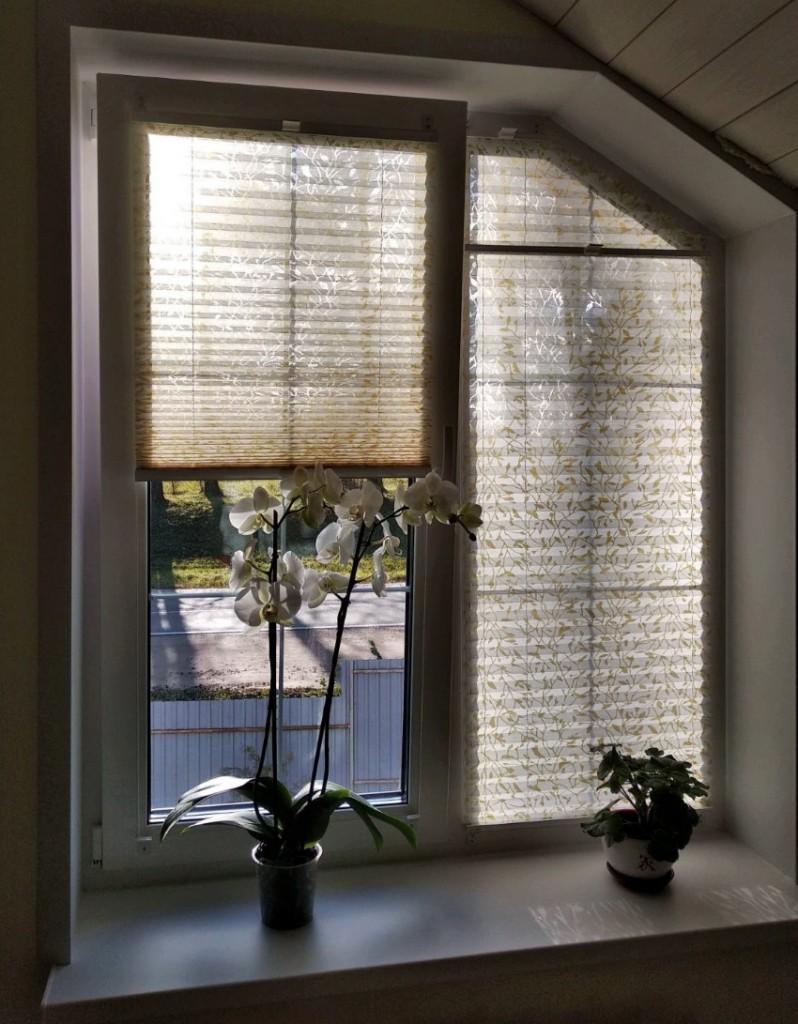 Затенение в комнате с бумажными шторами