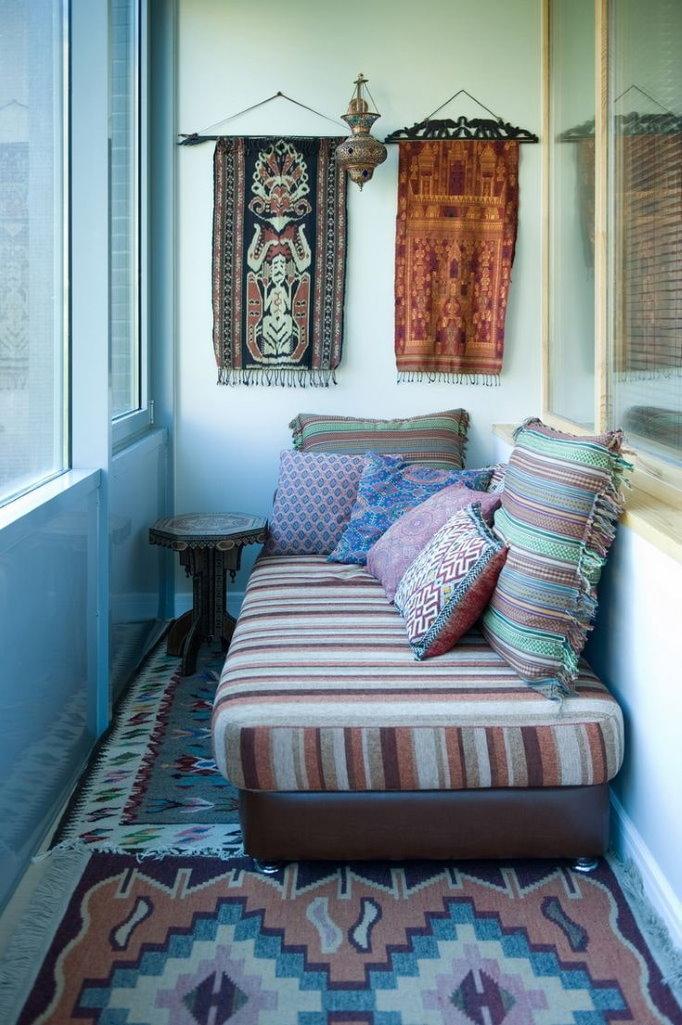 Декор стен балкона в арабском стиле