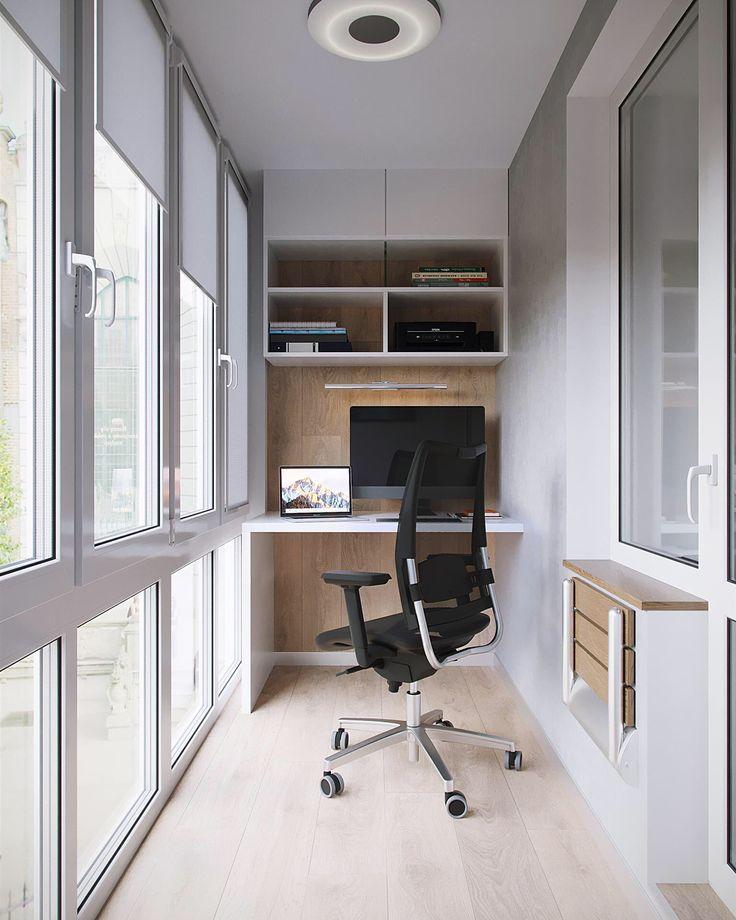 Обустройство домашнего кабинета на небольшом балконе