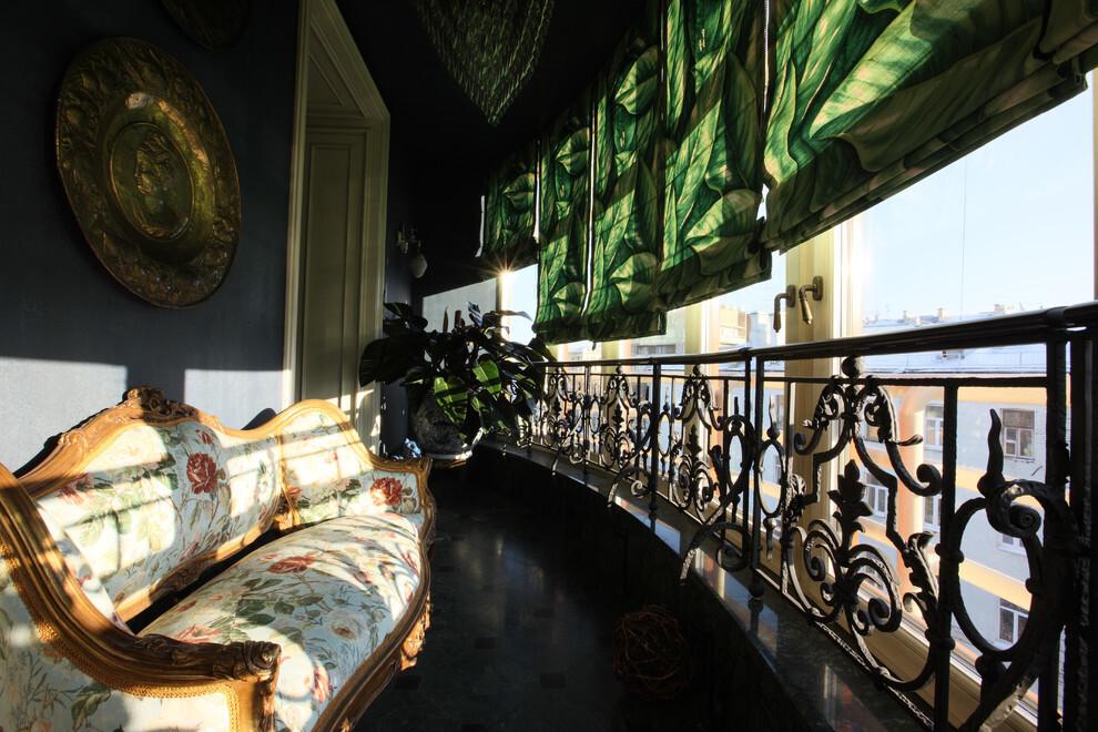 Оформление интерьера лоджии в стиле барокко