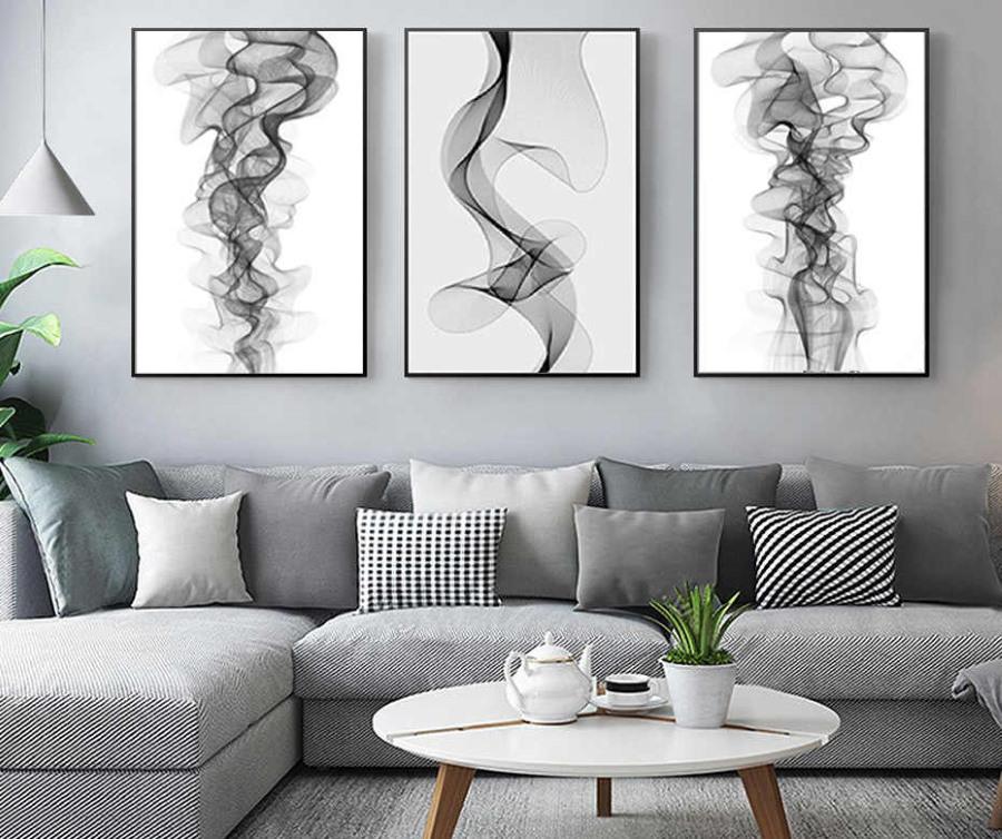 Модульные картины в черно-белых тонах