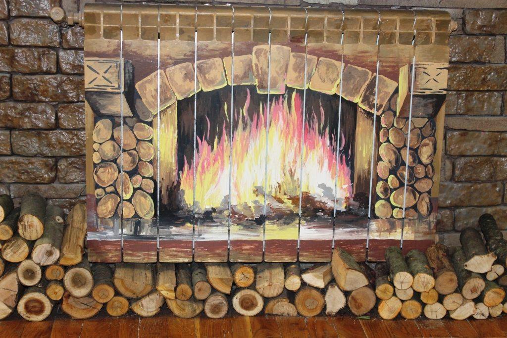 Декорирования радиатора отопления под настоящий камин