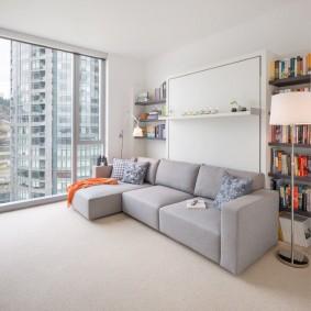 Трансформирующаяся мебель в гостиной небольшого размера