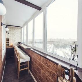 Остекление лоджии холодными окнами