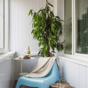 Пластиковый стульчик голубого цвета