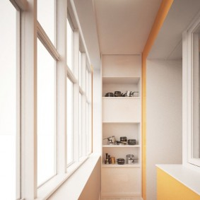 Алюминиевые рамы на узком балконе