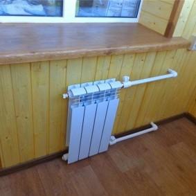 Обшивка вагонкой теплого балкона