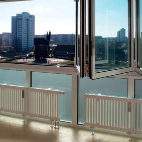 Отопление балкона с панорамным остеклением