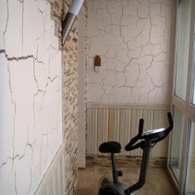Мини-спортзал на утепленной лоджии