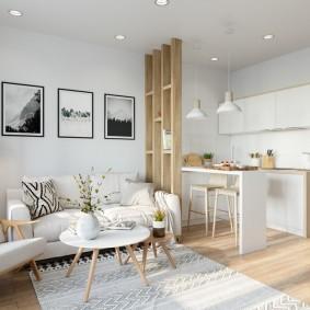 Оформление зоны отдыха в квартире-студии