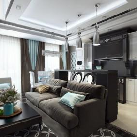 Многоуровневый потолок комбинированной конструкции
