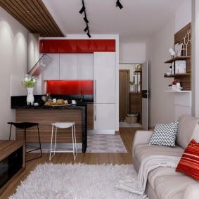 Компактная квартира в современном стиле