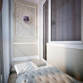 Дизайн балкона в неоклассическом стиле