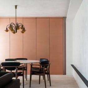 Встроенные шкафы с фасадами без ручек