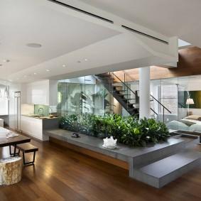 интерьер загородного дома в стиле минимализма