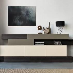 Мебель в гостиную комнату стиля хай-тек