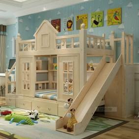 Кровать-домик с игровой зоной