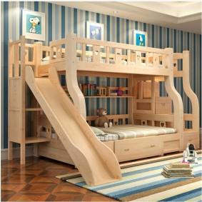 Двухспальная кровать-чердак для однополых детей