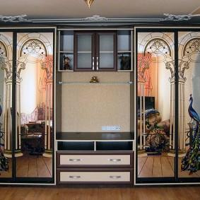 Комбинированная стенка с двумя шкафами