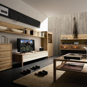 Модульная мебель из массива дерева
