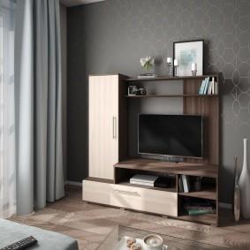 Компактная стенка для телевизора в гостиной
