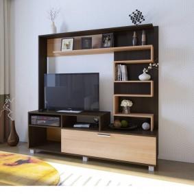 Корпусная мебель для маленькой гостиной