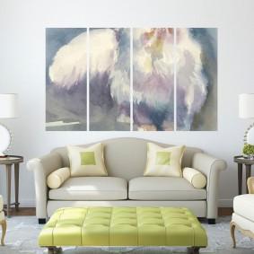 Мягкая мебель в зоне отдыха в гостиной
