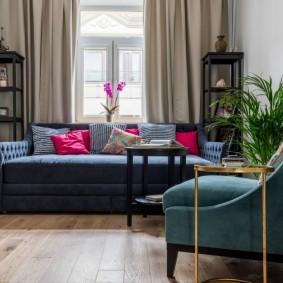 Расстановка мягкой мебели в небольшой гостиной