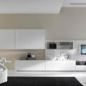 Белая мебель модульного типа
