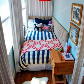 Спальное место на узком балконе