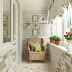 Отделка балкона в стиле прованса