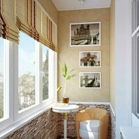 Декор стены балкона своими руками