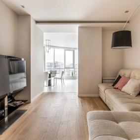 Гостиная комната в стиле минимализма